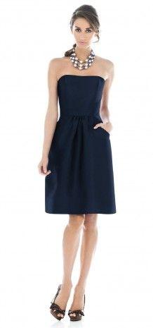 Blue Strapless Short Bridesmaid Dress G129 @Samantha Street