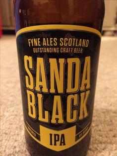 Sanda Black IPA 5.5%, Fyne Ales, Argyll Scotland, Provided by Beerbods