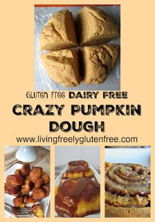 Crazy pumpkin dough for all of your pumpkin pastries and treats. Gluten free, dairy free and delicious. www.livingfreelyglutenfree.com