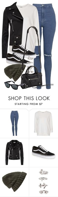 """Style #9748"" by vany-alvarado ❤ liked on Polyvore featuring Topshop, Yves Saint Laurent, Vans, Forever 21, NLY Trend, Balenciaga, Ray-Ban, women's clothing, women and female"