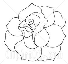 19151-Clipart-Illustration-Of-A-Black-And-White-Line-Drawing-Of-A-Blooming-Rose-Ready-To-Be-Colored-In.jpg picture by kchase30 - Photobucket