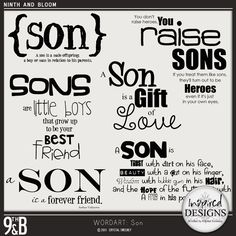 I love all of these! I need this made into a sign to hang in little mans room!