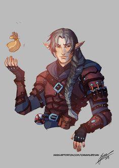 Rogue half elf by Ioana-Muresan on DeviantArt Fantasy Character Design, Character Design Inspiration, Character Concept, Character Art, Story Inspiration, Character Ideas, Elf Characters, Dungeons And Dragons Characters, Fantasy Characters