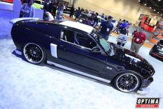 Ford Mustang customized by Troy Ladd of Hollywood Hot Rods in the Ford booth at the 2013 #SEMA Show