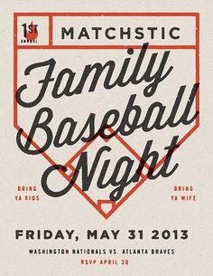 Family Baseball Night by Jonathan Lawrence — bring ya kids, bring ya wife lol