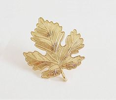 * Penny Deals * - Gift for the Loved Simple Wedding Bridal Broach Brooch Pins Bouquet Maple Leaf Shape Gold ** For more information, visit image link.