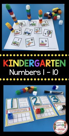 NUMBER TOWERS and MATS - Kindergarten counting and cardinality - common core math - easy back to school math centers #Kindergarten #kindergartenmath #backtoschool