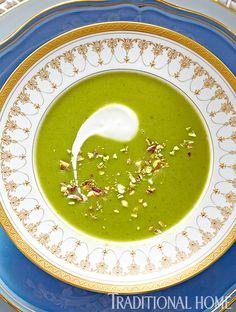 Asparagus soup) More