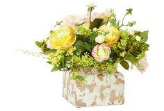 """12"""" Dahlia and Ranunculus Arrangement"""