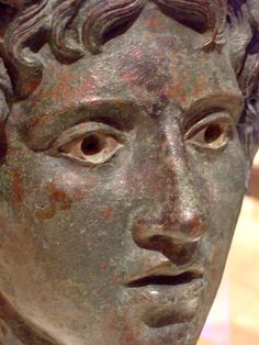 Head of a young Bacchus Roman 1-50 CE Bronze and silver | Flickr - Photo Sharing!