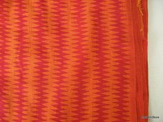 Extra Wide Striped ZigZag Block Print Indian by theDelhiStore, $12.50