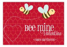 Red Bee Mine Valentine Card