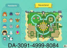 Animal Crossing Wild World, Animal Crossing Fan Art, Animal Crossing Guide, Animal Crossing Villagers, Animal Crossing Qr Codes Clothes, Island Theme, Island Map, Pokemon, Map Layout