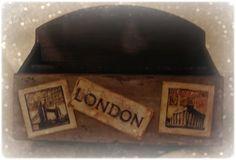Le creazioni di Marzia - set da scrivania #decoupage #shabbychic #portalettere