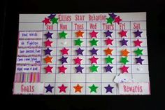 Star Behavior Charts: really good idea. Repinned by SOS Inc. Resources.  Follow all our boards at http://pinterest.com/sostherapy  for therapy resources.