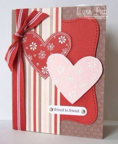 Easy idea Valentine Greeting Cards, Making Greeting Cards, Greeting Cards Handmade, Wedding Anniversary Cards, Wedding Cards, Box Photo, Stampin Up, Paper Cards, Cards Diy