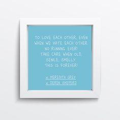#greysanatomy #ga #bluepostit #meredithgrey #derekshepherd #merder #grey #ellenpompeo #patrickdempsey #series #tvshows #decoração #decor #poster #quadro