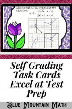 Boom Cards™ are a great way for students to practice every day skills In this 20- card deck, students practice identifying the correct graph that matches the given 2 or 3 functions. Functions include linear, quadratic, cubic, rational, radical. This set of Boom Cards features different Digital Self-Checking Task Cards. (No printing, cutting, laminating, or grading!)