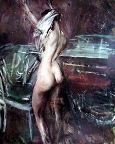 Giovane Donna Scura by Boldini
