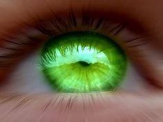 bright green eye