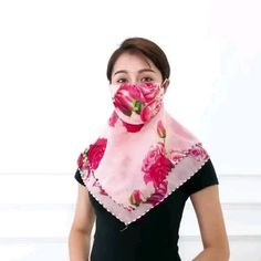 Reusable and washable. Versatile and Lightweight convertible facemask scarf. Perfect for all year round weather. Cat Face Mask, Easy Face Masks, Face Mask Set, Cool Masks, Half Mask, Mouth Mask, Diy Mask, Bandeau, Fashion Face Mask
