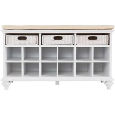 Escape the jungle in your entryway at last! Stylish yet soft-spoken, this shoe bench provides the perfect solution to an untidy entryway or cluttered bedroom. This beautiful, white shoe bench has 12 s