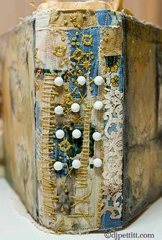 art journal collage book - Journal Spine- dj pettitt