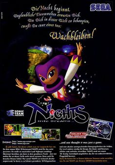 German ad for NiGHTS into Dreams. No clue what it says, but it's pretty.