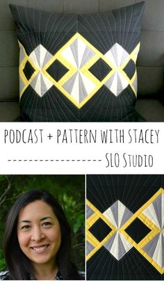 Check out the deco pillow from Stacey. What a great pillow and fun interview!