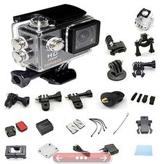 # 1 H PRO Sports Action Waterproof Underwater Camera 1080P WIFI 21 Free Accessories 12MP 170 Wide Angle Full HD Micro Hdmi Rechargeable 30m Waterproof & 60fps Micro Camera