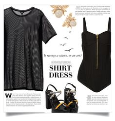 """""""It's a Shirt! It's a Dress! It's a Shirtdress!"""" by dolly-valkyrie ❤ liked on Polyvore featuring Monki, Balmain and shirtdress"""