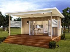 The Monaco - Granny Flats One bed one bath Prefabricated Modular home with high quality fittings by Nova Deko #shippingcontainerhomes