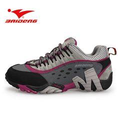 promo code 6fc85 afa13 Baideng women s Hiking Shoes outdoor athletic sport shoes sneakers women  Mountain trekking climbing shoes zapatillas mujer