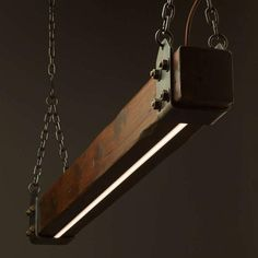 This Wood Beam LED Pendant Light is an old-worldly composition of timber and steel contrasted with the clean modern look of embedded LEDs. The steel work of our pendant is all hand fabricated, heat blackened and sealed with linseed oil which provides a beautifully antiqued and aged finish that is
