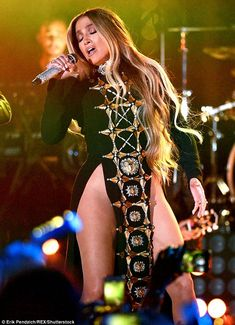 Diva: Jennifer stormed the stage