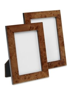 Perfect for Dad's desk: Our picture frames are meticulously crafted from burled wood veneers, with natural variations making each frame unique. #williamssonoma