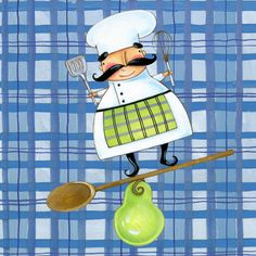 chef.quenalbertini: Pear Chef by Ronnie Rooney