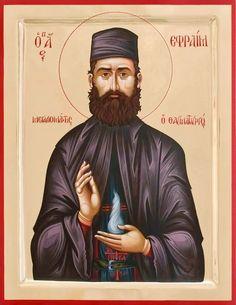 St. Ephraim of Nea Makri by Alfredo Efraim Augello
