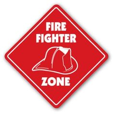 Amazon.com : FIREFIGHTER ZONE Sign fireman fire man fighter gift : Home Decor Products : Patio, Lawn & Garden