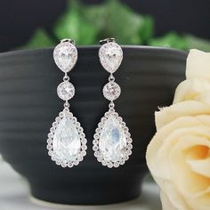 LUX cubic zirconia Bridal Earrings from EarringsNation