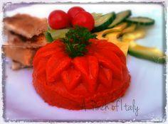 Sformatini di Crema di Peperoni e Parmigiano