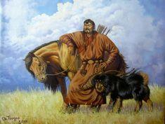 A Mongol with his loyal Bankhar.