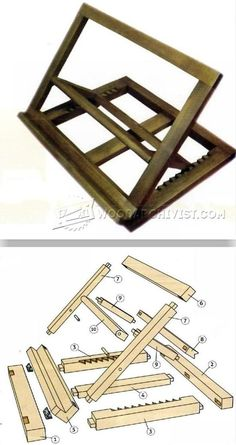 Folding Book Stand Plans - Woodworking Plans and Projects | WoodArchivist.com