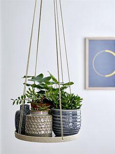 Plant Hanger, White, Stoneware