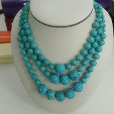 ⬇S A L E ⬇ Turquoise 3 rows of necklace.  Georgoues Jewelry Necklaces