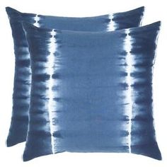 "Add a splash of style to your sofa, chaise, or bed with this eye-catching pillow, the perfect companion to a glass of chardonnay and your latest book club read.   Product: PillowConstruction Material: Cotton coverColor: BlueFeatures:  Tie-dye applicationHidden zipper closureInsert included Dimensions: 18"" x 18""Cleaning and Care: Machine wash on gentle cycle with mild detergent. Lay flat to dry."