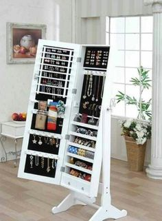A mirror that opens up into secret jewelry storage ♥Click and Like our facebook page♥