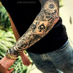 Amazing artist Jeffry Mendoza Jeffry Mendoza awesome roses clock cards script le… – Tattoo Pins - Famous Last Words Hand Tattoos, Forarm Tattoos, Forearm Sleeve Tattoos, Best Sleeve Tattoos, Tattoo Sleeve Designs, Rose Tattoos, Tattoo Designs Men, Body Art Tattoos, Tattoo Roses