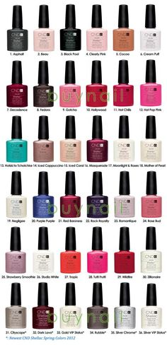 CND shellac colours - Romantique is my favorite! Perfect natural look for work!
