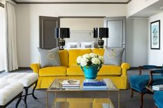 LUV DECOR: Amarelo & Petroleo no The Chancellor Hotel